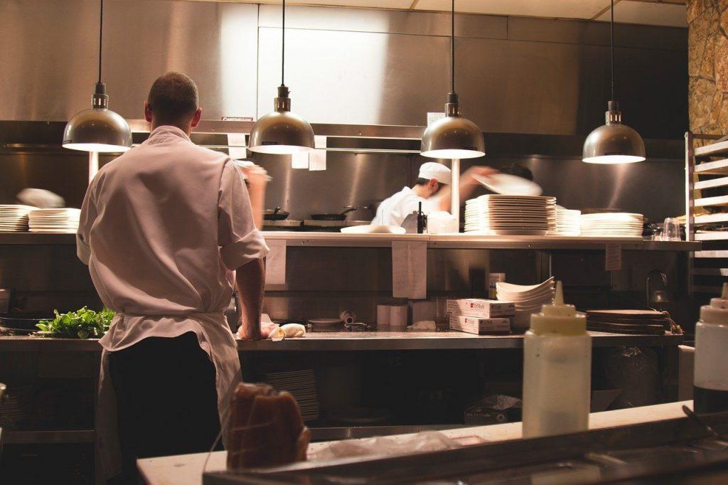restaurant, kitchen, chefs